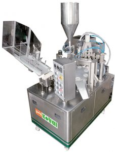 PK 30 PL – A Plastic Tube Filling and Sealing is very cost effective filler providing many features. The design of the machine is ergonomic and easy to handle and maintain for operators. The filler is very flexible, and therefore suitable for different product segments. It provides production speed of 60 tubes per minute, depending on the tube size and type of product.
