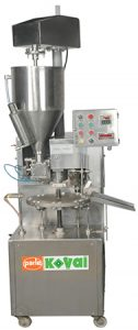 PK 30 AL – SH / DH semi-automatic tube filler for pharmaceutical, cosmetic, chemical and food products. is a very cost effective filler providing many features. The design of the machine is ergonomic, easy to handle and easy to maintain for operators. It is a fixed speed tube filling and sealing machine. It is semi-automatic tube filler for pharmaceutical, cosmetic, chemical and food products. It is one of our most popular machines. It has an output of 35 and 70 tubes/minute for aluminum tubes.