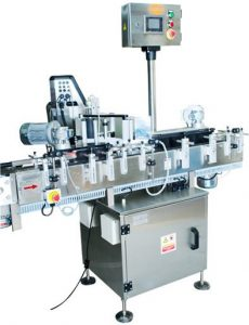 Labelling Machine for printing and attaching labels to the bottles