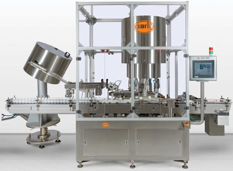 PSC-200 8 Head Capping Machine, CRC, Screw Capping, Press-On Caps, Bottle Capping Machines
